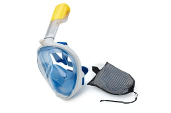 Blue Large / Extra Large Full Face Snorkel Mask