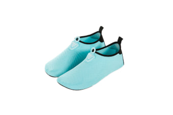 Water Socks Soft Slippers Sports Aqua Shoes Wading Diving Shoes Barefoot Shoes Blue 32-33