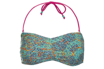 Trespass Womens/Ladies Linear Bandeau Bikini Top (Lagoon Print)