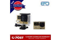 H3 Waterproof Dual Lcd Screen Uhd 4K Wifi Hdmi Sport Action Pro Camera Gold