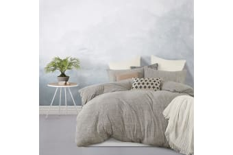 Gioia Casa Jersey 100% Cotton Quilt Cover Set - Grey Marle