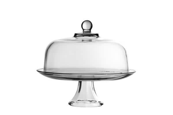 Anchor Hocking Presence Cake Stand & Dome