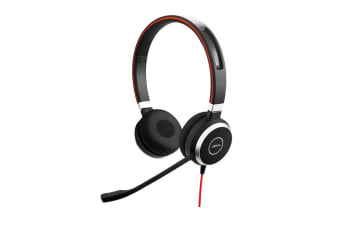 Jabra 14401-10 EVOLVE 40 UC Duo Stereo headset 3.5mm Jack Over-the-Ear