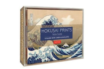 Hokusai Prints Note Cards - 12 Blank Note Cards and Envelopes