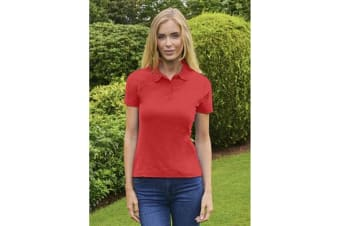 Casual Classic Womens/Ladies Polo (Red)