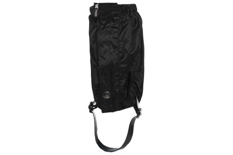 Trespass Adults Unisex Knoydart Ankle Gaiters (Pack Of 2) (Black) (One Size)