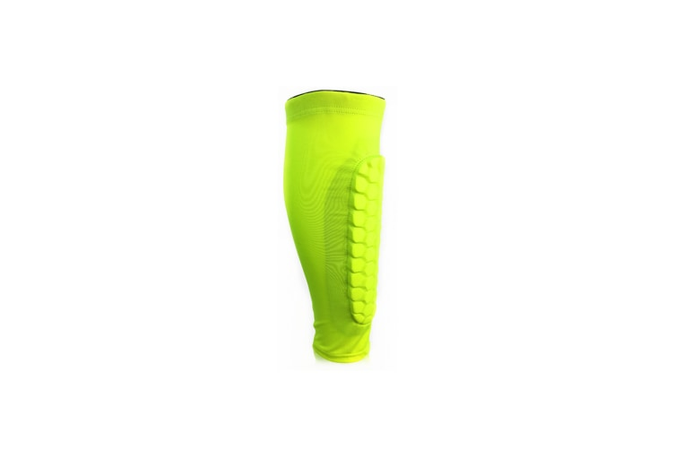 Select Mall 2PCS Football Shin Guards Protective Soccer Pads Holders Leg Sleeves Training Sports Protector Gear-Green L