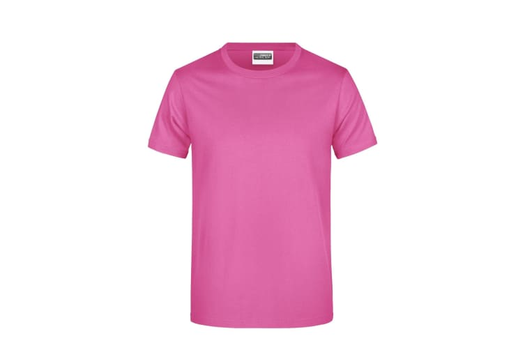 James And Nicholson Mens Basic T-Shirt (Pink) (S)