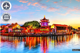 CHINA: 10/12/14 Day China Discovery Tour Including Flights for Two