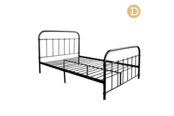 Double Size Metal Bed Frame (Matte Black)