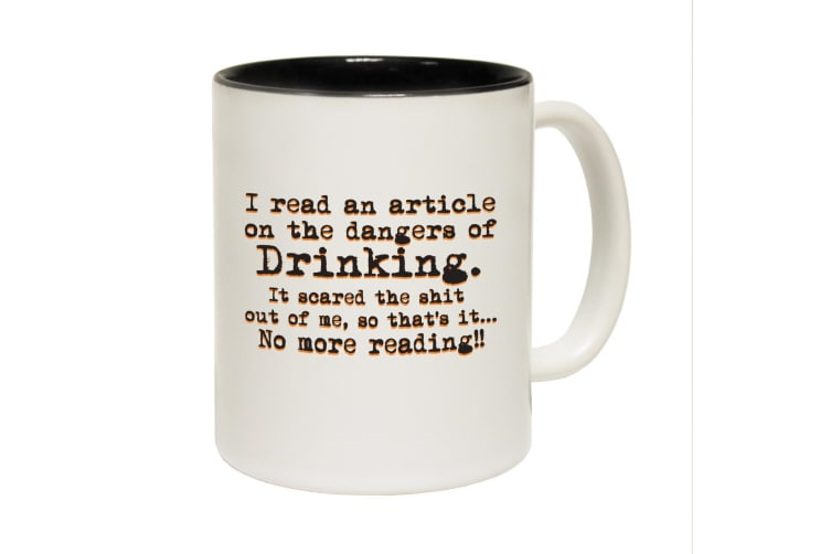 123T Funny Mugs - Article Drinking - Black Coffee Cup
