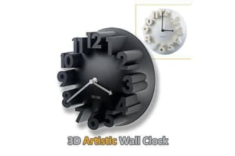 Sansai 3D Stylish Artistic Wall Clock Plastic Materials home or office decoration