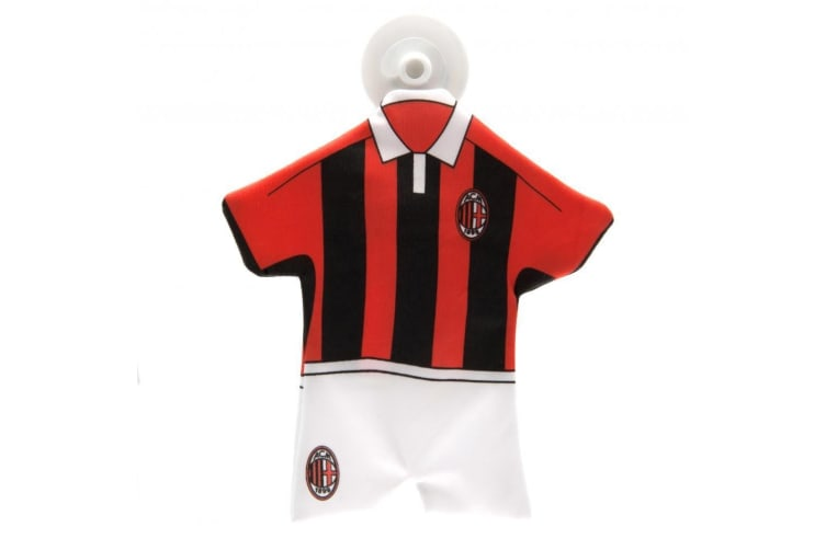 AC Milan Official Car Mini Kit (Red/Black/White) (One Size)