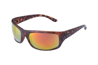 Shoreline Wrap Around Sunglasses - Tortoise/Sunburst Mirror