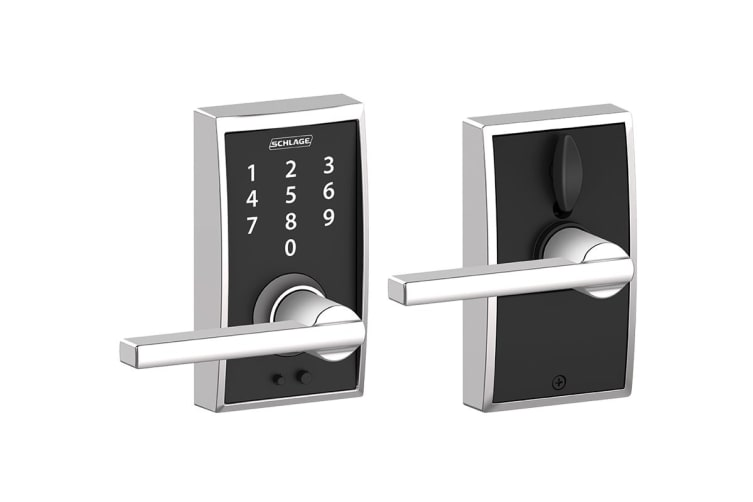Schlage Touch Keyless Touchscreen Lever with Century Trim and Latitude Lever (Bright Chrome)