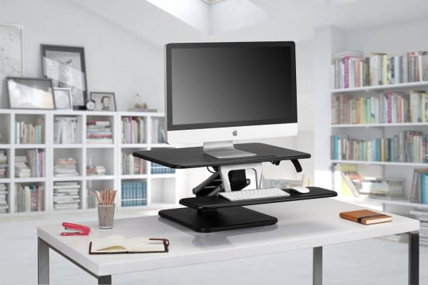 Kogan Sit to Stand Desk Riser (Small, Black)