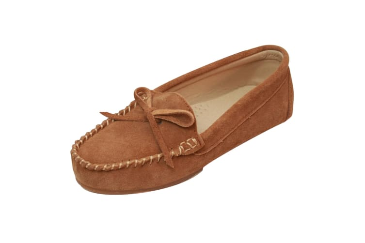Eastern Counties Leather Womens/Ladies Suede Moccasins (Chestnut) (3 UK)