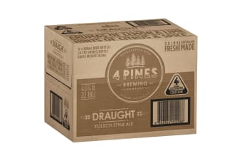 4 Pines Draught Beer 12  x 500mL Bottles