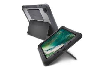 "Kensington 9.7"" iPad BlackBelt Rugged Drop Proof Case w/Screen Protector/Stand"