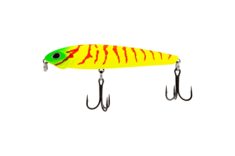 90mm FishArt Bullet Funky Tiger Top Water Fishing Lure - 11.5g Hard Body Lure