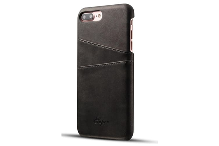 Leather Snap On Cover Case For iPhone 2 Card Holder Slots  HuaWeiP20