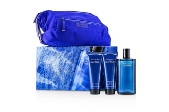 Davidoff Coolwater Coffret: Eau De Toilette Spray 125ml/4.2oz + After Shave Balm 75ml/2.5oz + Shower Gel 75ml/2.5oz + Navy Toilet Bag 3pcs+Bag