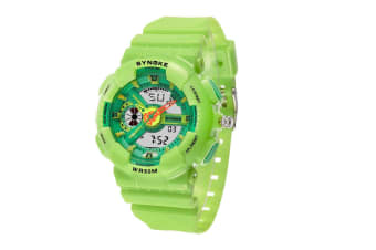 Children'S Waterproof Sports Watch Fashion Electronic Watch Green