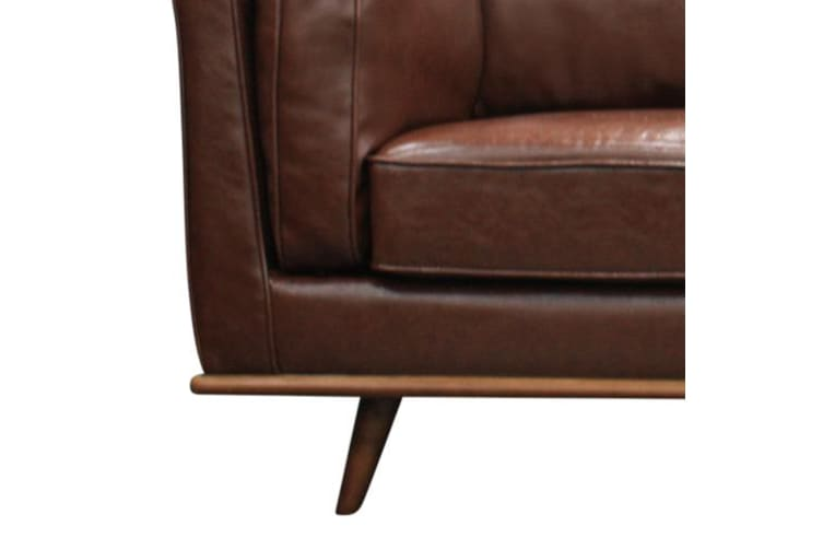 York Sofa 2 Seater Brown PU