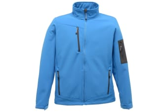 Regatta Standout Mens Arcola 3 Layer Softshell Jacket (Waterproof And Breathable) (French Blue / Seal Grey) (XL)