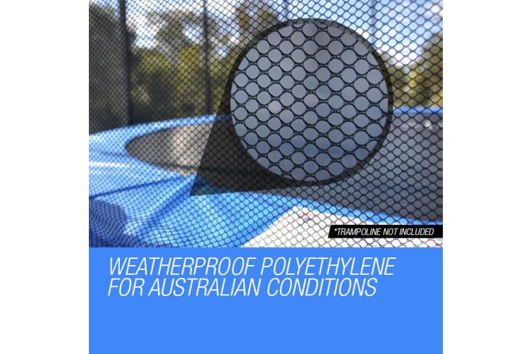 UP-SHOT Replacement Trampoline Safety Net Round Spare Part Enclosure 10ft 8 Pole