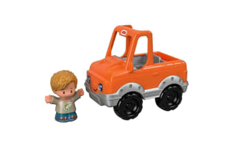 Little People Small Vehicle Orange Help A Friend Pick Up Truck