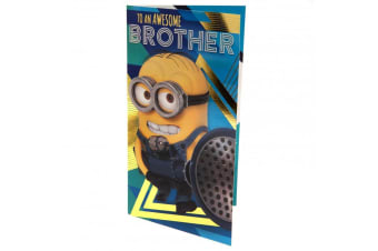 Despicable Me 3 Minion Brother Birthday Card (Yellow/Blue)