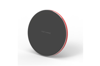 Fast Wireless Charger Charging Pad Usb-C Qi Charge Red