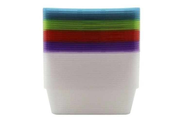 20 x 300ML Food Containers Colored Lid 300ML BPA Free Plastic Meal Storage Take Away