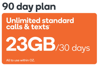 Kogan Mobile Prepaid Voucher Code: EXTRA LARGE (90 Days | 23GB Per 30 Days) - No SIM