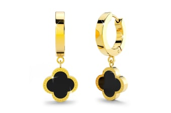 Clover Drop Earrings|Yellow Gold