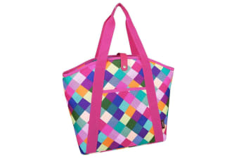 Sachi 48cm Insulated Thermal Cooler Shopping Lunch Bag Carry Picnic Harlequin