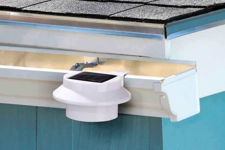 2 Pack Solar Powered LED Gutter Lights (White)