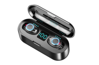 Wireless Bluetooth Earbuds 5.0,Breathing Light Digital Display Touch 8D Surround Stereo Mini Invisible Dual Microphone Headphones