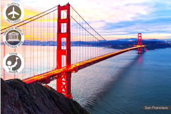USA: 12 Day West Coast USA Tour Including Flights for Two