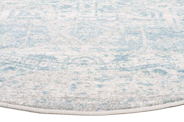 Glacier White Blue Transitional Rug 240x240cm