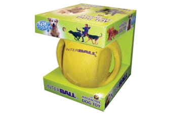 Pet Brands Interball Dog Toy (Yellow) (Small)