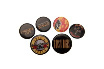 Guns N Roses Button Badge Set (Multicoloured) (One Size)