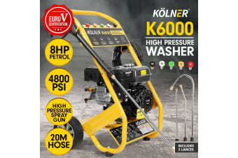 Kolner 6000 8HP 4800psi Petrol Engine High Pressure Washer Cleaner