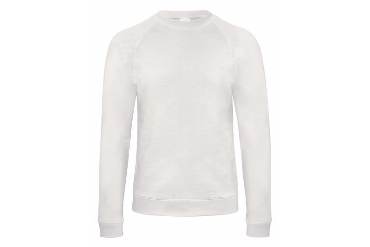 B&C Denim Mens Starlight Raglan Slub Sweatshirt (Chic White) (XL)
