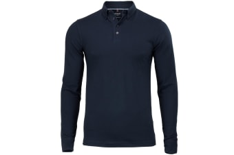Nimbus Mens Carlington Deluxe Long Sleeve Polo Shirt (Navy)