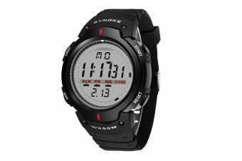 Electronic Watch Sports Waterproof Multifunctional Watch For Men Black