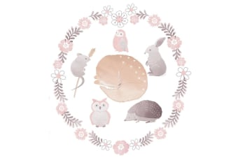 Lolli Living Removable Wall decal set Forest Friends
