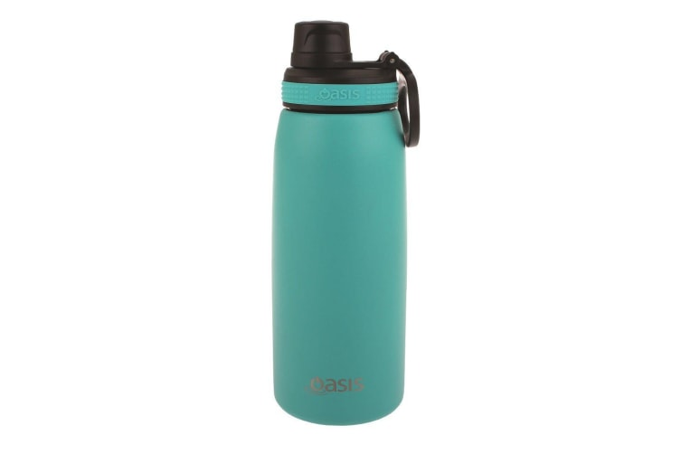 Oasis Stainless Steel Double Wall Insulated Sports Bottle Screw Cap 780ml Turquoise