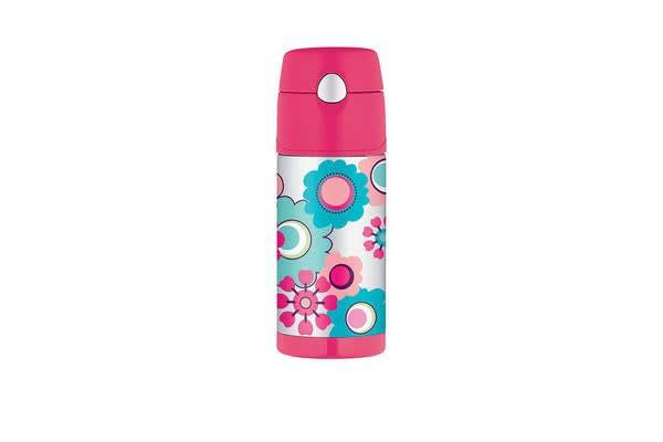 Thermos Funtainer S/S Vacuum Insulated Drink Bottle 355ml Flower